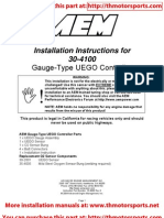 Installation Instructions for 30-4100 Gauge-Type UEGO Controller