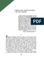 Tierno Galván - Ensayo Acerca Del Valor Social de Las Cosas