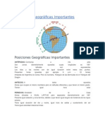 Posiciones Geográficas Importantes