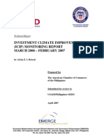 USAID INVESTMENT CLIMATE IMPROVEMENT PROJECT  (ICIP) MONITORING REPORT