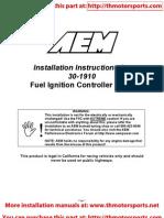 AEM 10-1910 Instructions for 30-1910 FIC