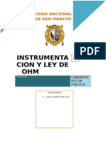Instrumentacion y Ley de Ohm