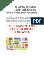 Reglas de Uso de Los Signos de Puntuación en Imágenes Ideal Para Los Mas Pequeños