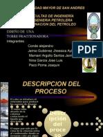 PRESENTACION DE EJERCICIO DE REFINACION DEL PETROLEO