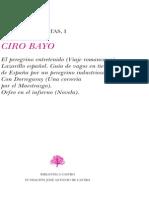 Don Ciro Bayo, Obras CompletasTomo  1