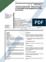 NBR 08802 - 1994 - Concreto Endurecido - Determinação Da Velocidade de Propagação de Onda Ultra-Sônica