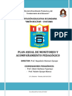 Plan de Monitoreo y Acompañamiento Pedagógico 2015