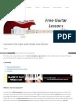 Harmonize Major Scale Triads