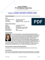Spring 2015 HLTH 3101 Med Term Course Syllabus