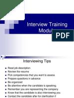 Interview Training Module