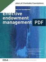 EFFECTIVE ENDOWMENT MANAGEMENT