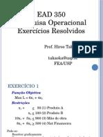 Exercícios  Resolvidos - PEsquisa operacional