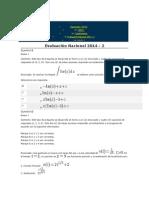 Evaluacion Final de Calculo Integral