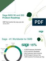 Sage's MAS 90 and MAS 200 Roadmap