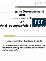 Challenges in Devp. and Implementation of Anticounterfeit Features