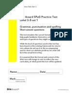 Practice SPAG Test