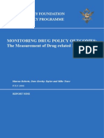 Monitoring Drug Policy Outcomes
