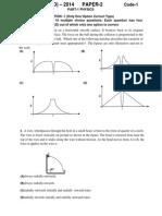 JEE Advanced 2014 paper II