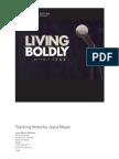Living Boldly Without Fear! - Joyce Meyer