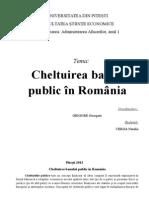 Cheltuirea banului in Romania