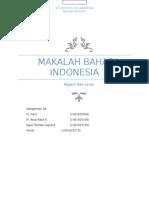 Makalah Ragam dan Laras Bahasa Indonesia