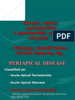 Chronic Apical Periodontitis.