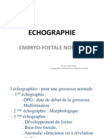 Echographie Embryo-foetales Normale