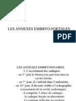 Les Annexes Embryo-foetale