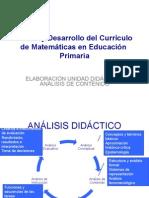 Analisis Contenido Matematicas
