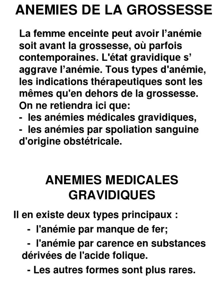 anemie 8 grossesse)