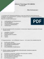 Neuro Eingangsklausur WS0304