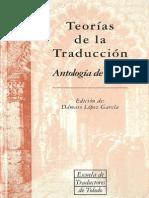 Sobre los diferentes méetodos de traducir - Antología