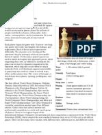 Chess - history