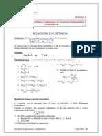 Semana 5-Ecuaciones Logaritmicas 2014-2