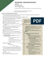 thaimun resolution checklist vetting