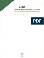 ABBA y Mensaje Central Del NT - Joachim Jeremias