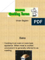 Cooking Terms x