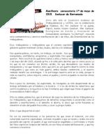 Manifiesto Convocatoria Unitaria 1º de Mayo 2015 Sanlucar