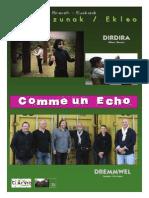 """Groupe Dremmwel, spectacle vasco-breton """"Dirdira"""" """"Comme Un Echo"""" (dossier Complet)"""