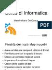 Corso Di Informatica  - Excel