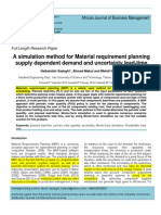 A Simulation Method for Material Requirement Planning Supply Dependent Demand and Uncertainty Lead Time