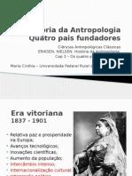 Historia da Antropologia - Cap 3 - Quatro Pais Fundadores