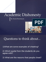 academic dishonesty presentation