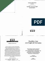 Escribir y Leer en El Siglo de Cervantes