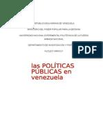 Ensayo Las Políticas Públicas en Venezuela