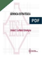 Gerencia Estratégica PFG Unidad 2