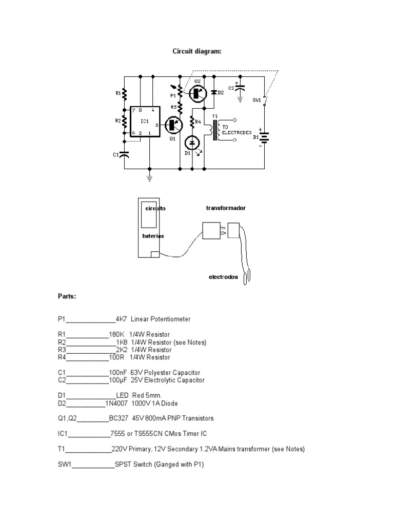 Bio Estimulador Series And Parallel Circuits Capacitor Linear Potentiometer Wiring Diagram