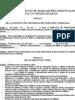 Estatutos Del Sindicato de Tecnicos Asistenciales