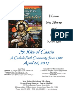 St. Rita Parish Bulletin 4/26/2015