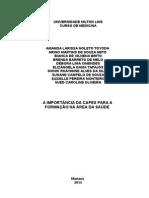 A IMPORTANCIA DO CAPES PARA FORMAÇÃO DE PROFESSORES NA SAUDErabalho Capes